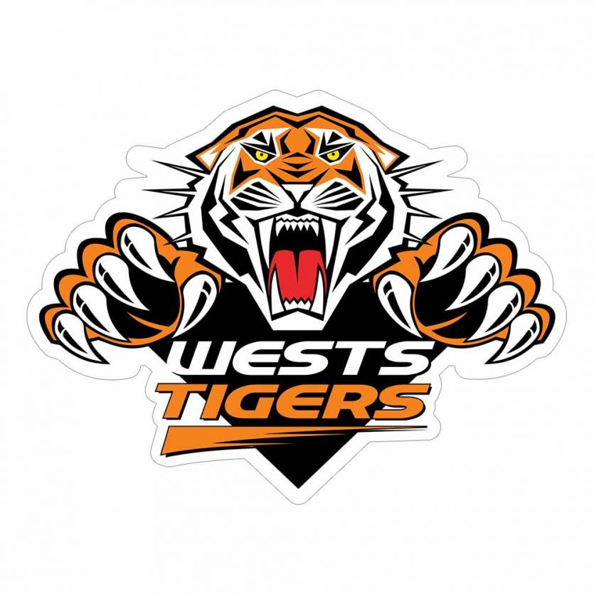 Wests Tigers Logo Sticker