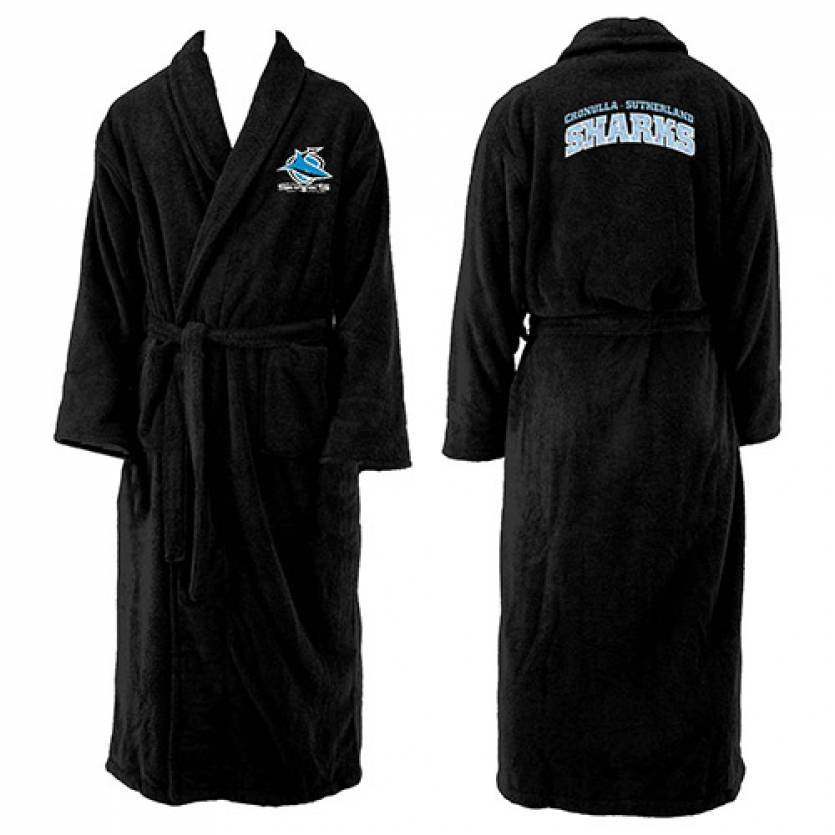 Sharks Mens Long Sleeve Robe