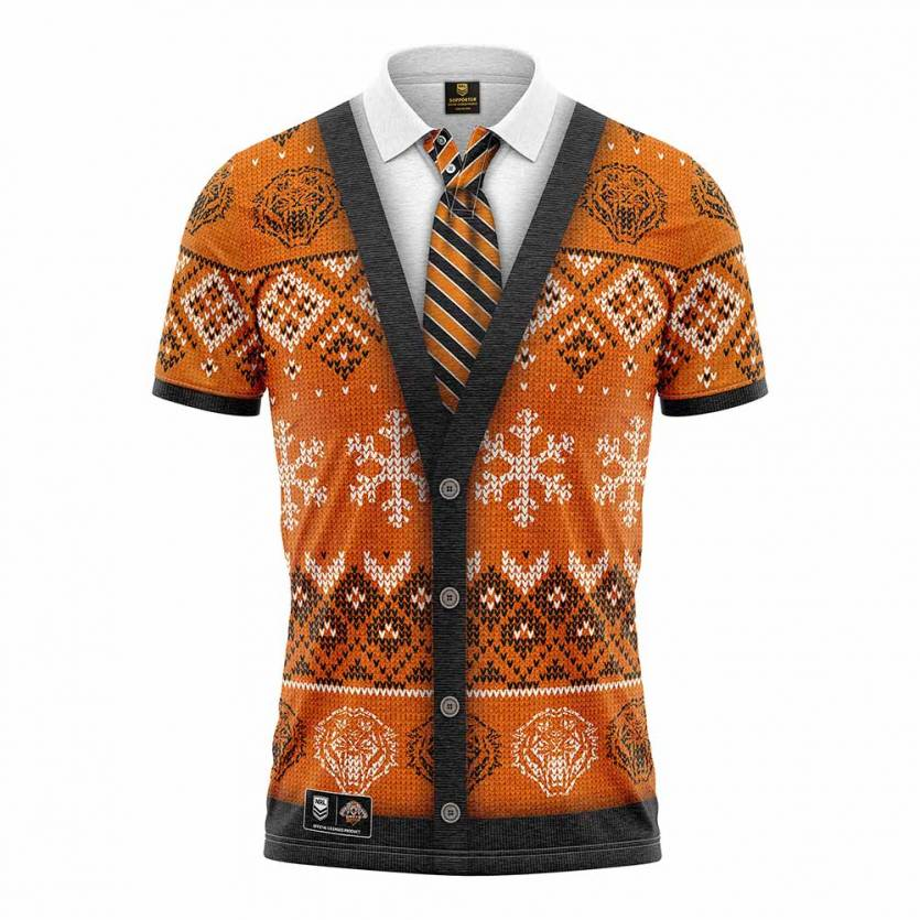 West Tigers Xmas Novelty Shirt
