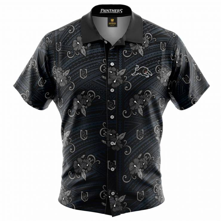Panthers Tribal Hawaiian Shirt