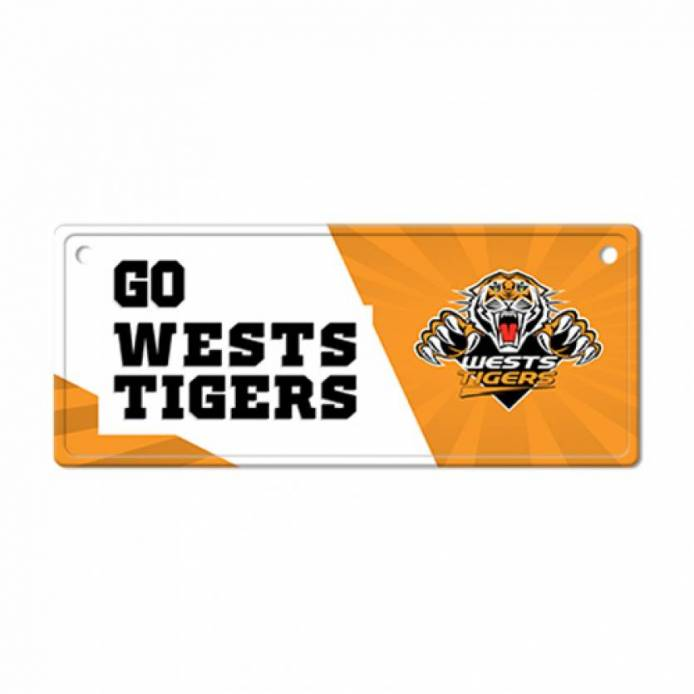 West Tigers Licence Plate Sign