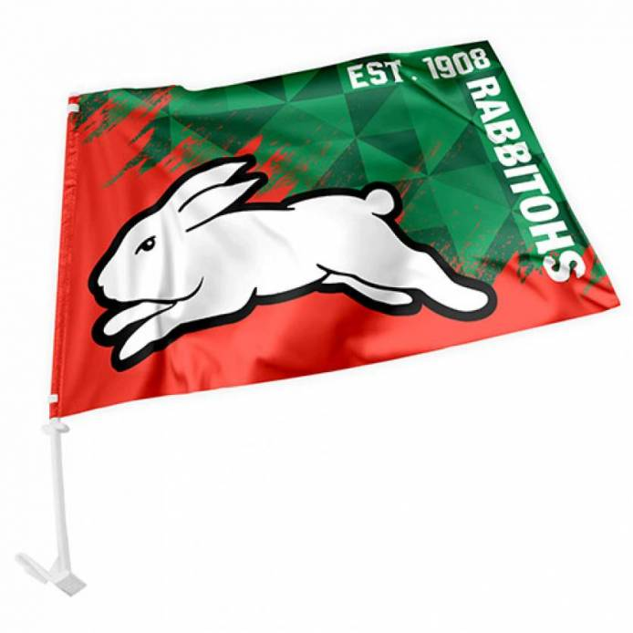 Rabbitohs Car Flag
