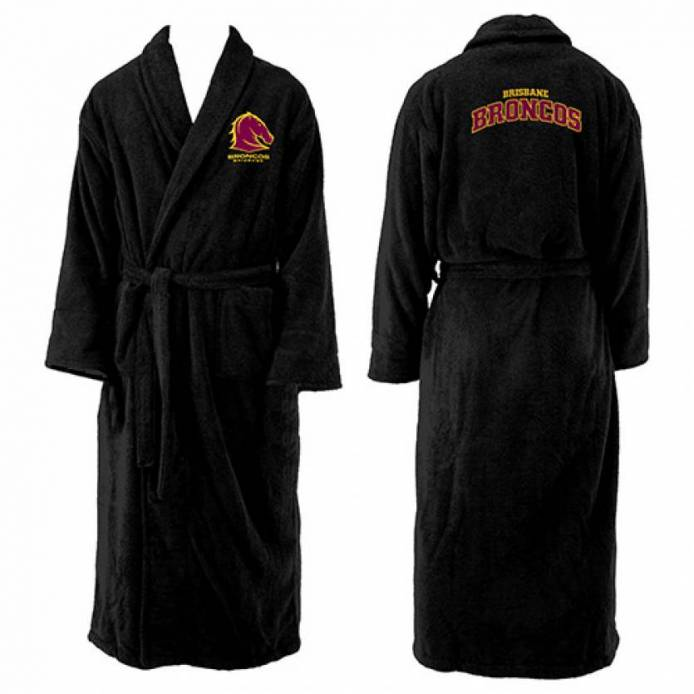 Broncos Mens Long Sleeve Robe