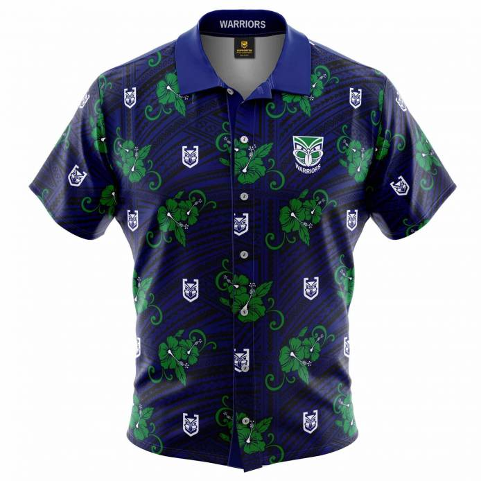 Warriors Tribal Hawaiian Shirt