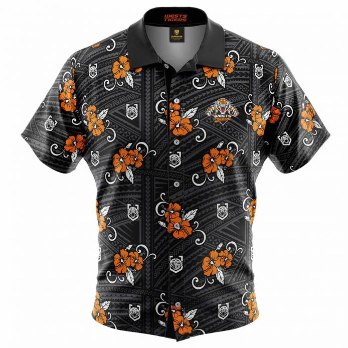 Wests Tigers Tribal Hawaiian Shirt